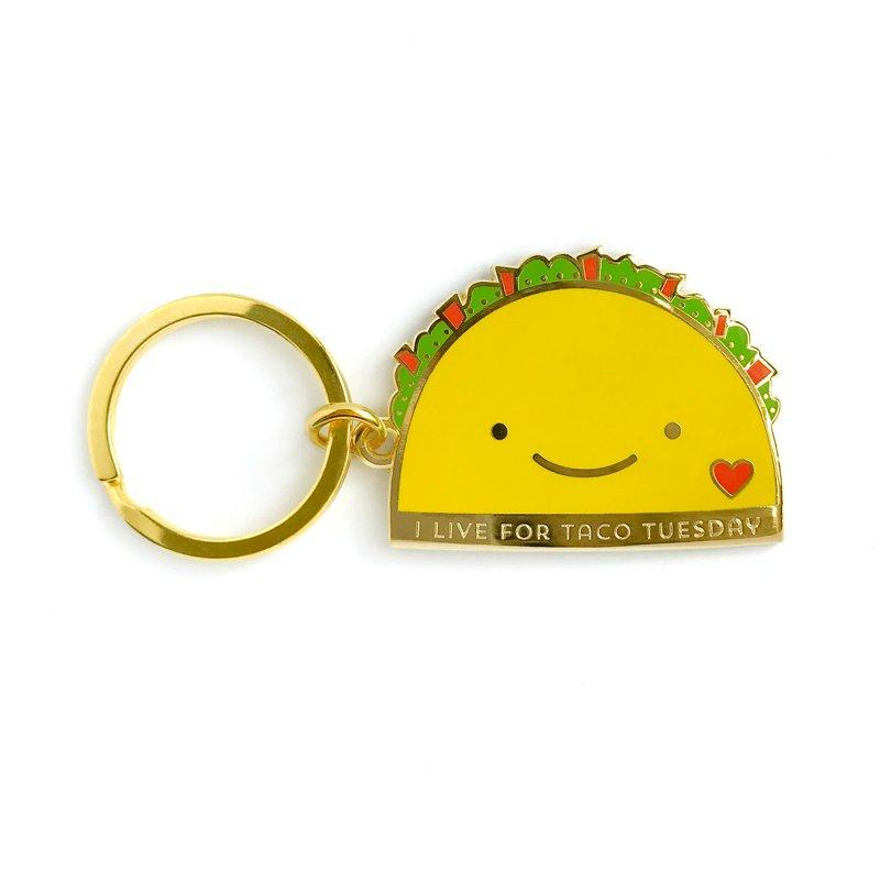 GS075 Taco Lover Tween Gift Gift Exchange Stocking Stuffer Taco Tuesday Keychain /& Enamel Pin Set in Gift Box Taco Tuesday Gift